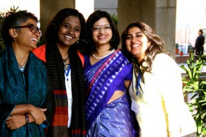 Four Indian women, all disability experts, smiling