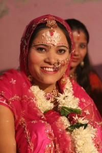 Beautiful Nepali bride on her wedding day