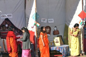A view of the first two stalls at the Republic Day mela