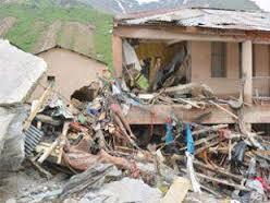 Collapsed houses in Uttarakhand