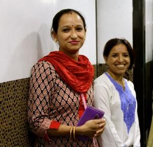 Two beautiful Indian women