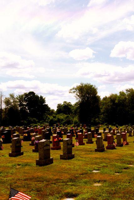 Cemetery with Rainbow