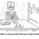 A billion is a thousand million cartoon