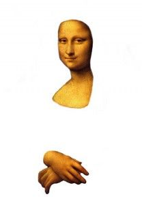 Head and hands of the Mona Lisa